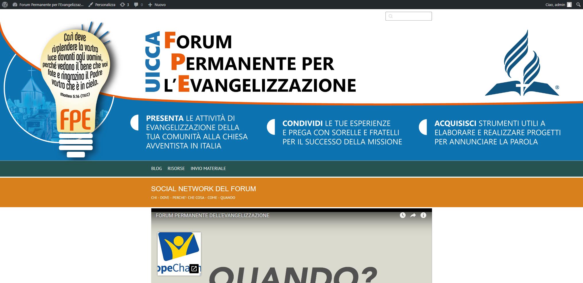 Forum Permanente Per L'Evangelizzazione